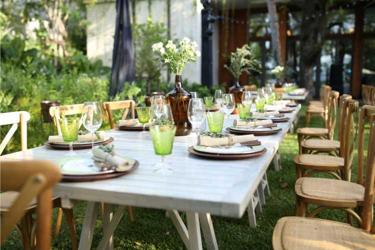 decoração simples para mesas de casamento