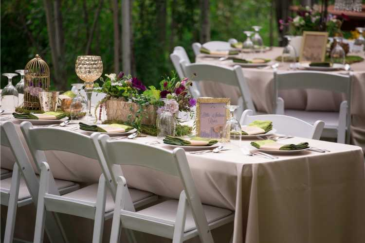 mesa simples para casamento