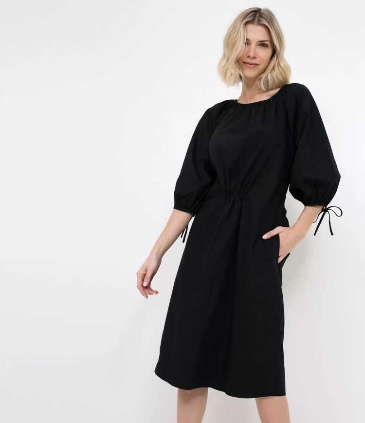 vestido com mangas bufantes é uma das tendências de inverno 2019