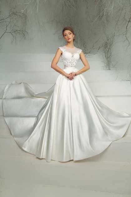vestido de noiva maravilhoso com saia em seda e cropped bordado