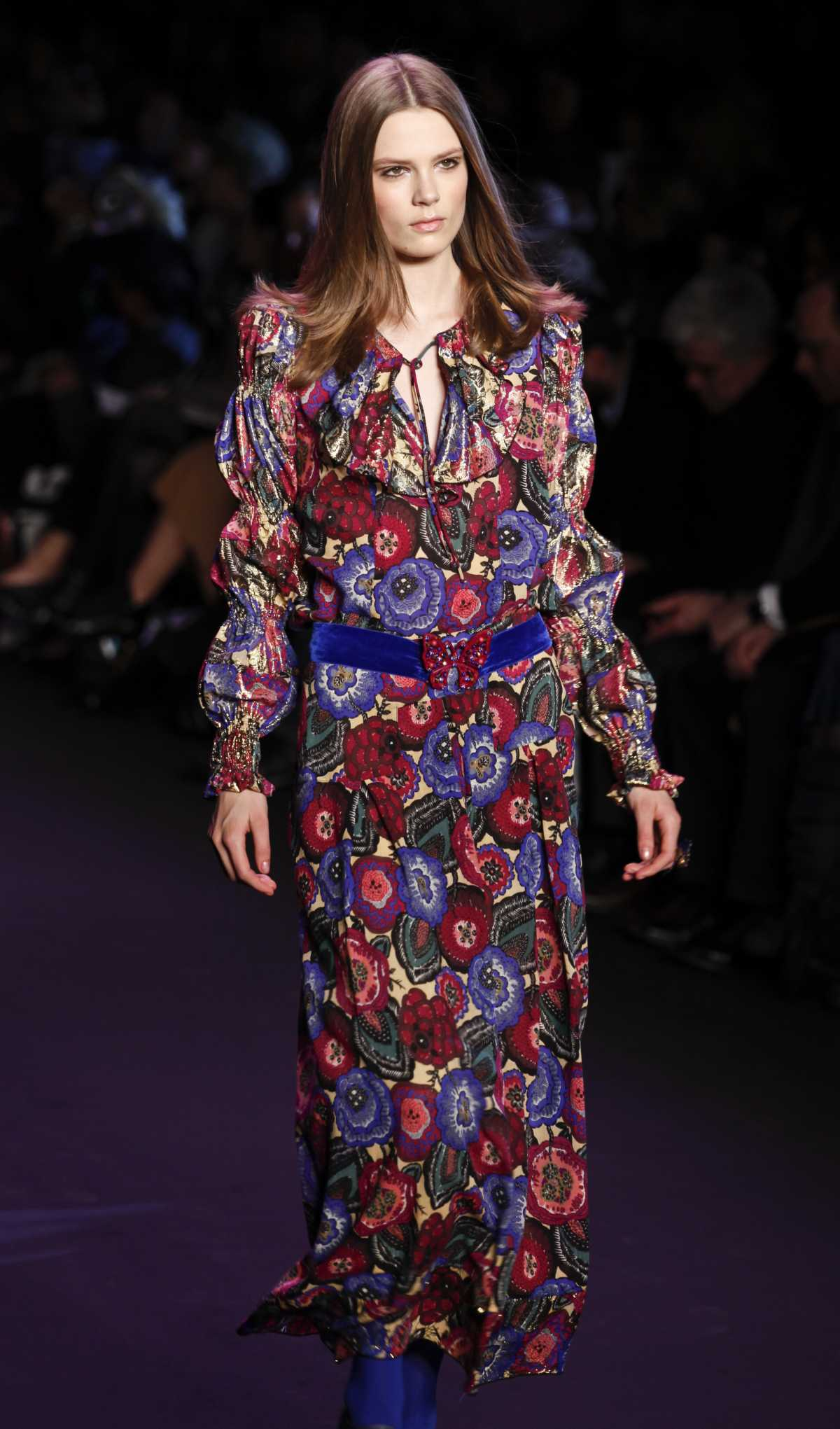 look boho com vestido longo floral