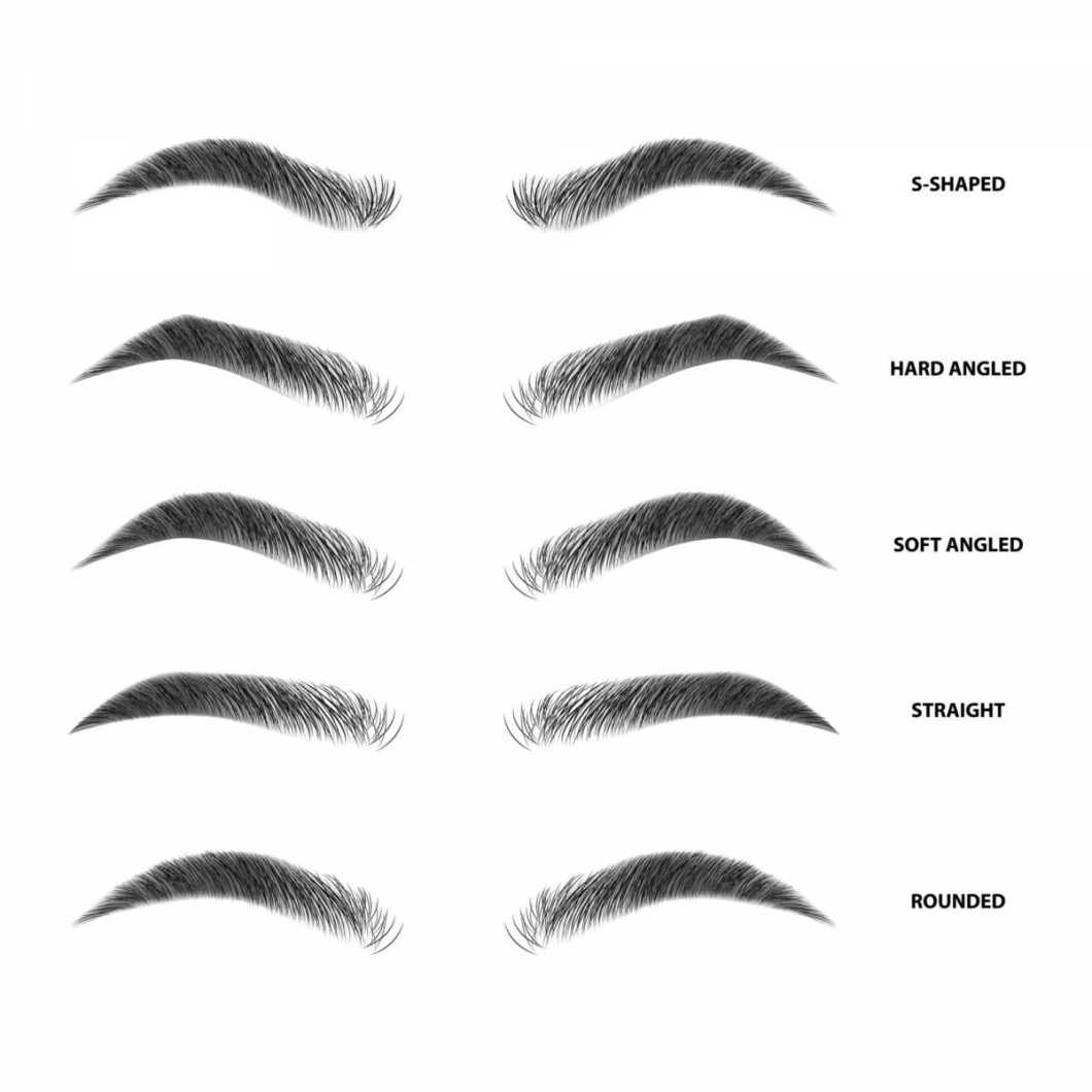 tipos de sobrancelhas