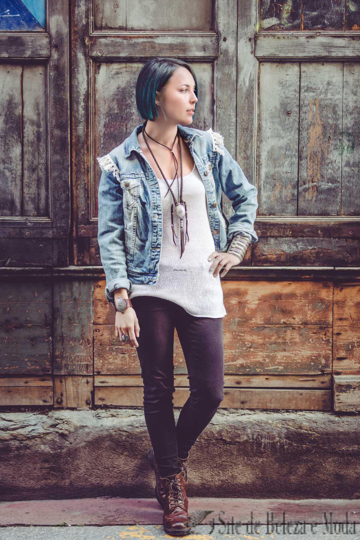 look com jaqueta jeans para inverno