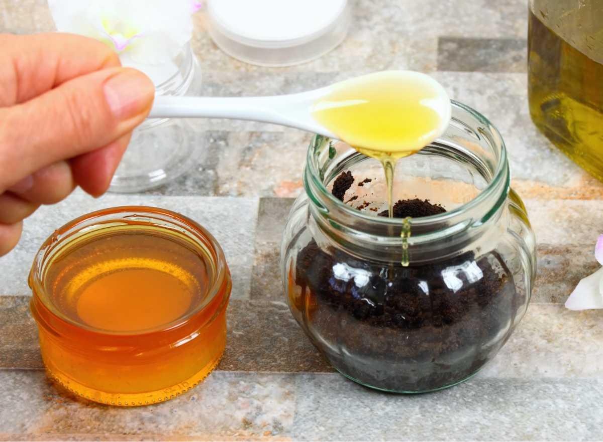 hidratação com café e mel