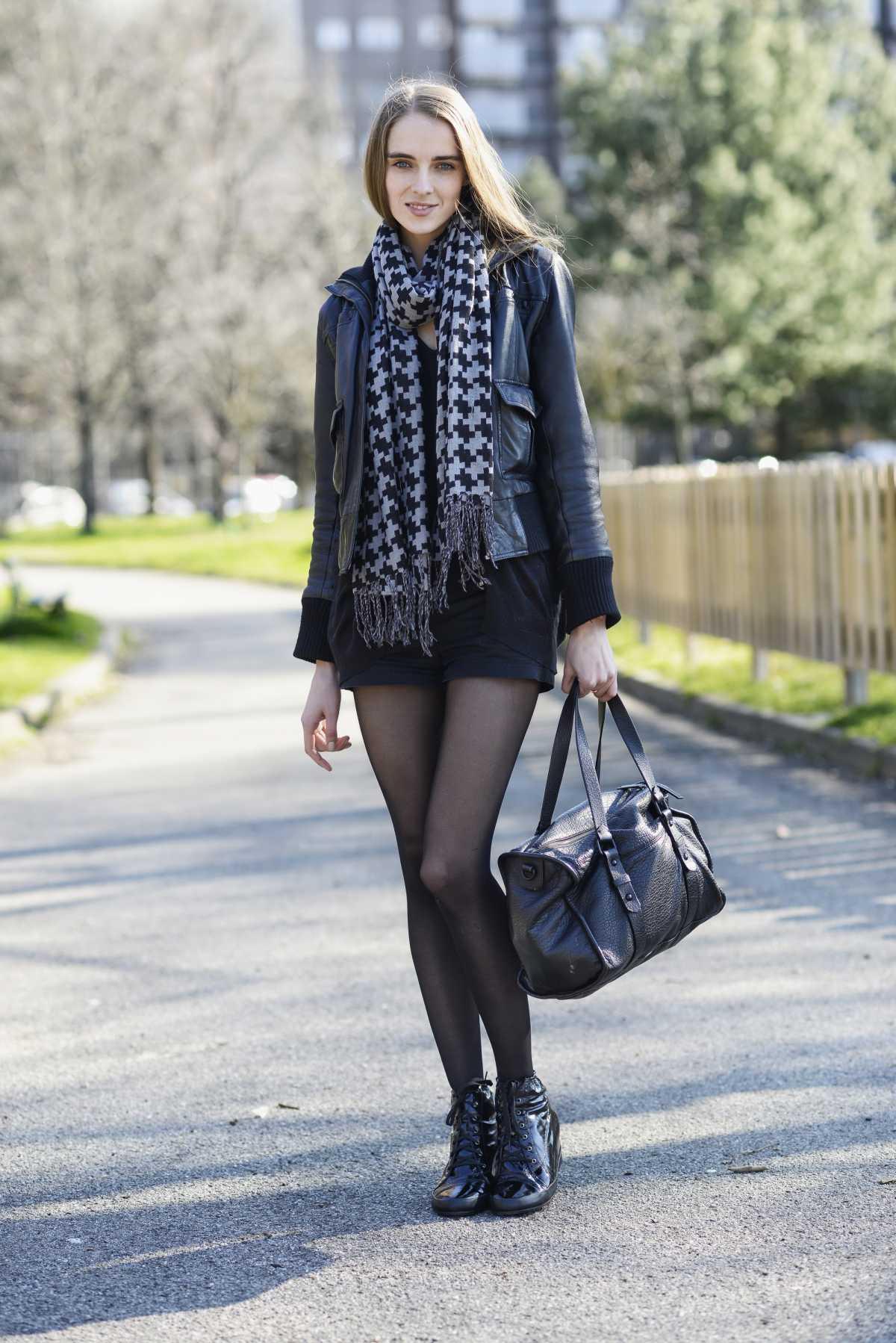 short com meia calça no inverno