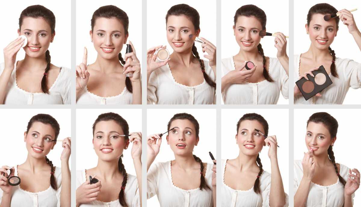 ordem de aplicação da maquiagem