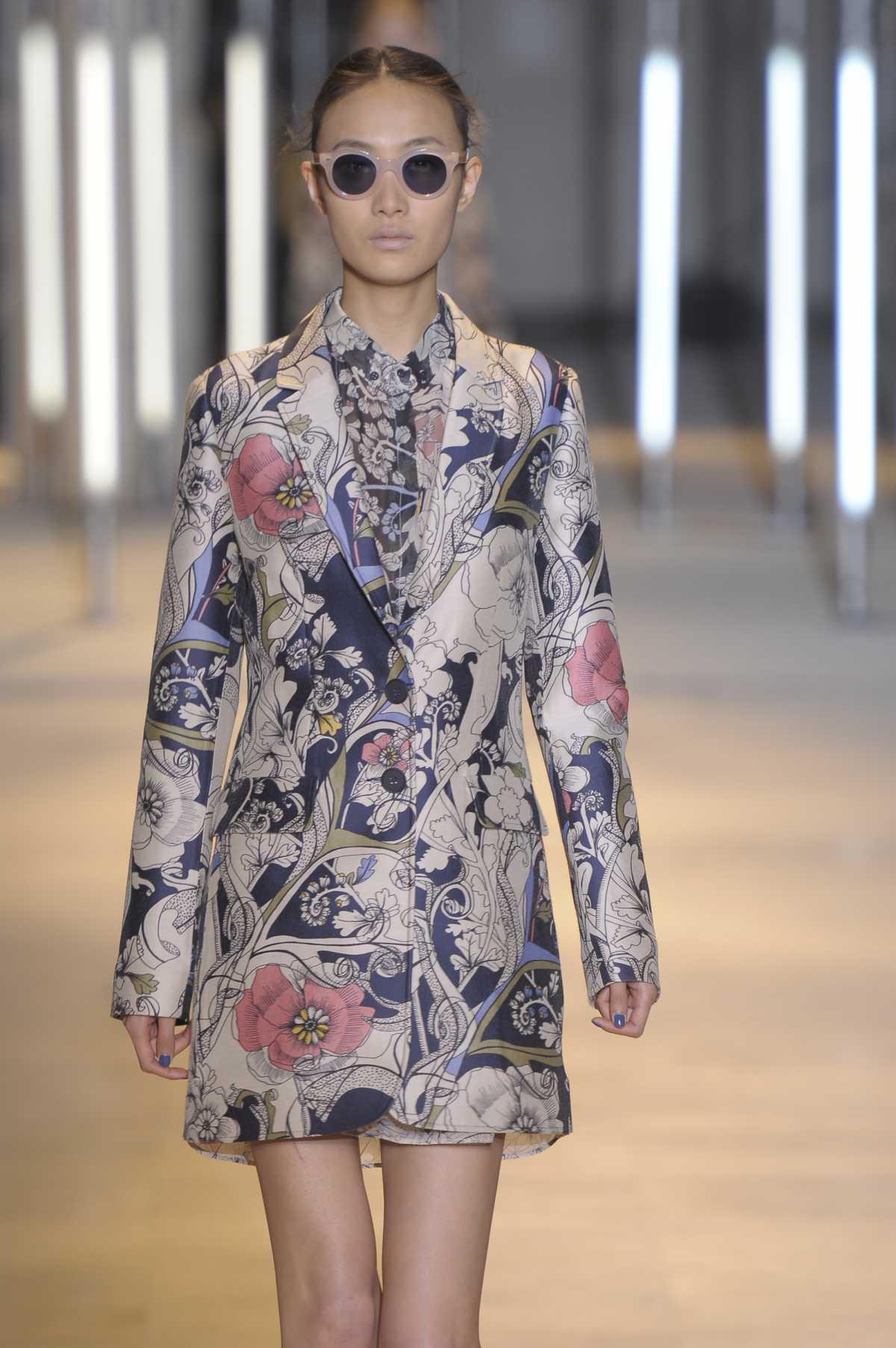 casaco com flores