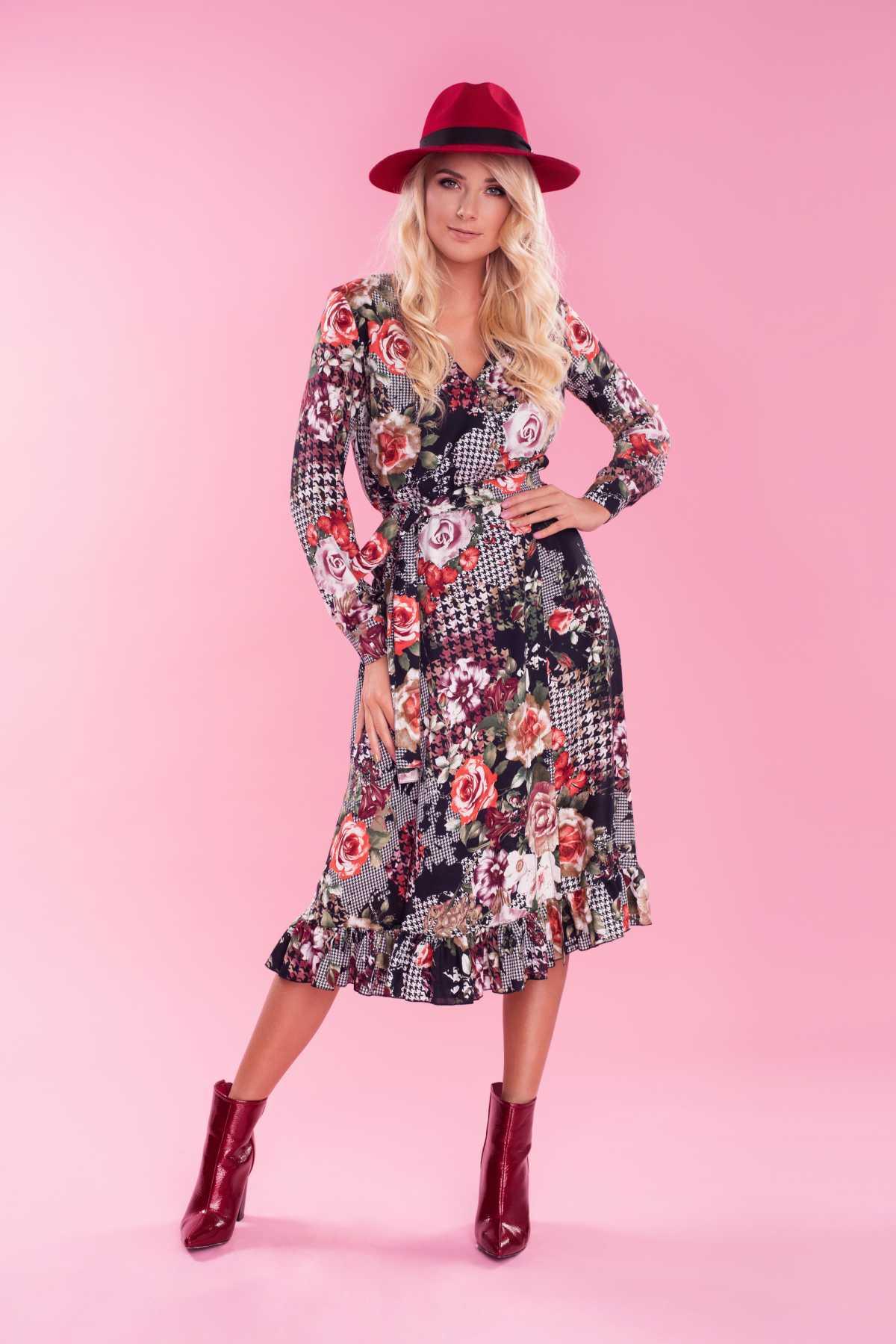 vestido fluido é um dos vestidos florais trends deste inverno