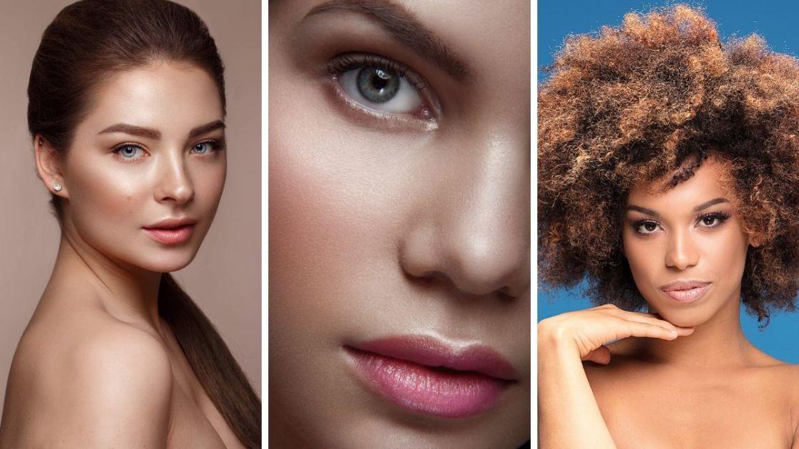 Pele natural e iluminada é uma das tendências de maquiagem outono inverno 2020 - [Fotos: shutterstock]