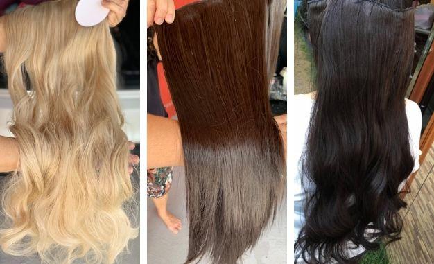 Esse aplique de cabelo é removível e você pode lavar, escovar , fazer babyliss, chapinha