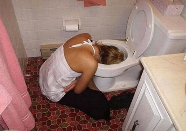 Vômitando depois de beber