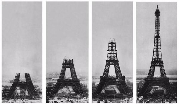 Construcao da Torre Eiffel