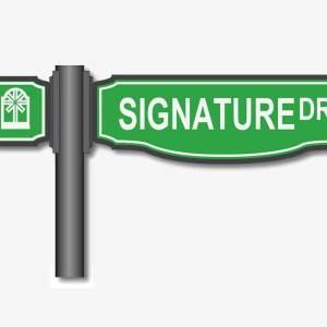 custom community road signs