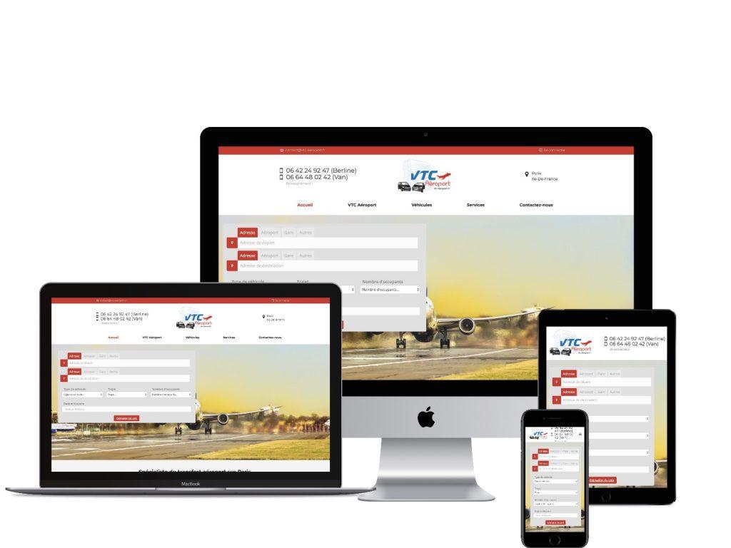 Site internet vtc création web taxi chauffeur