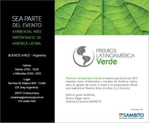 Invitacion Premios Latinoamerica verde CAP