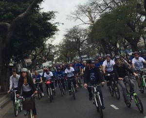 Bicicleteada auspiciada por Chevrolet en el marco de la Semana de la Movilidad Sutentable