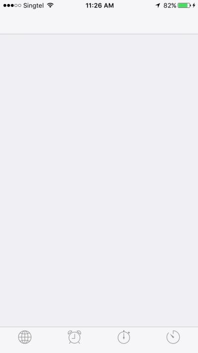 iOS Apple Clock 1