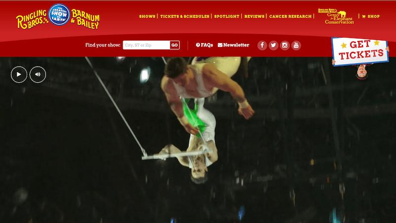 Ringling Bros and Barnum & Bailey website