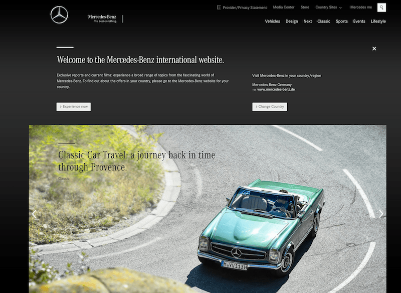 Merceded-Benz Website