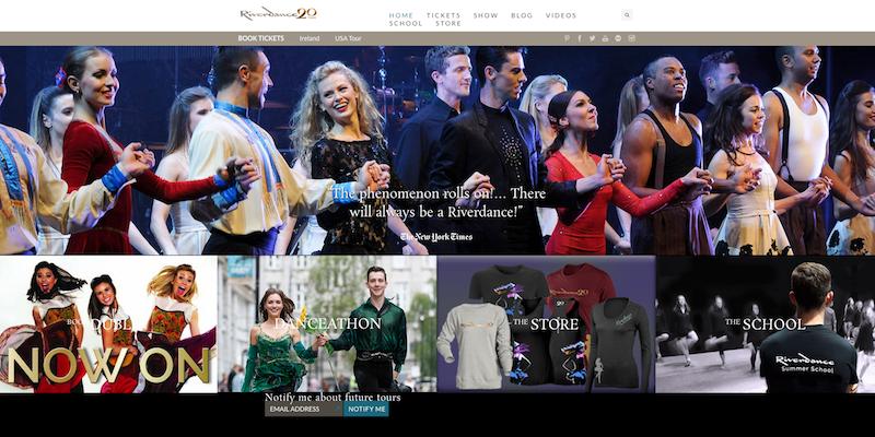 Riverdance Company Website