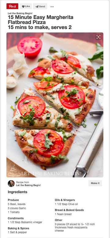 Pinterest Recipe