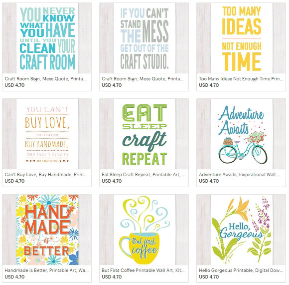 Part of Lisa's new line of digital products in her Etsy shop.