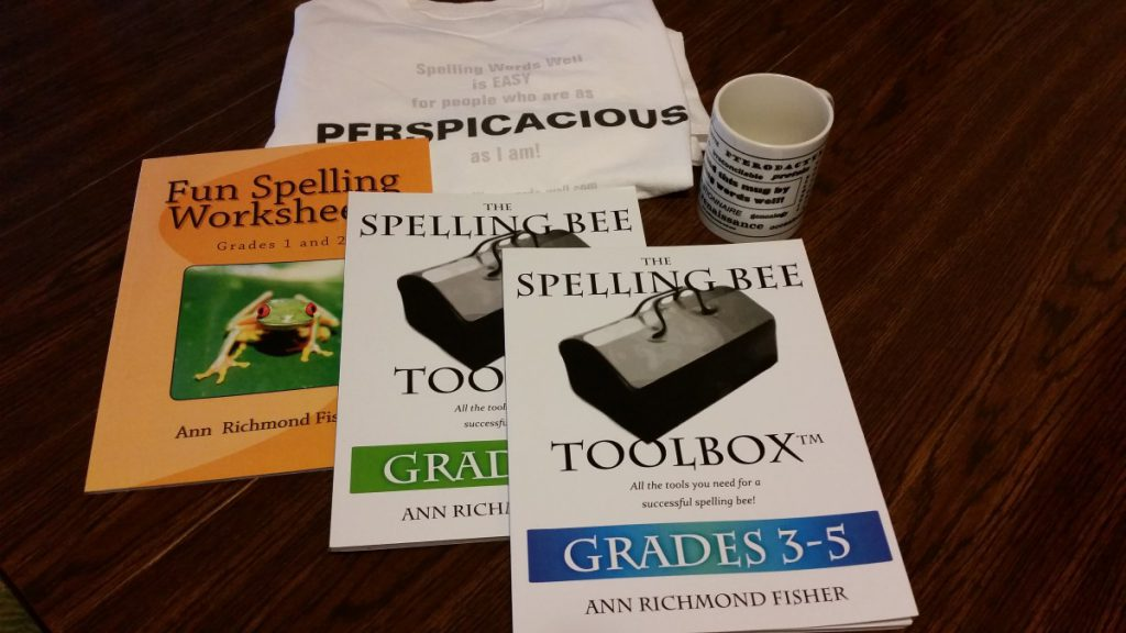 Examples of Ann's books and a couple of spelling bee prizes created via Zazzle.