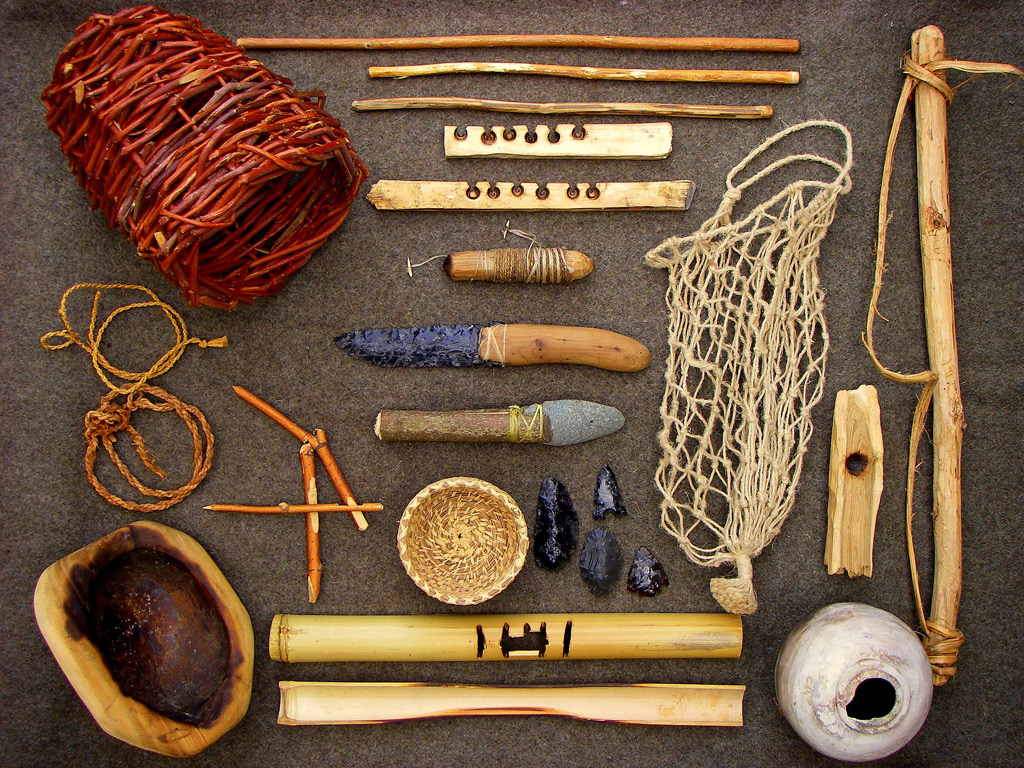 A collection of wilderness survival crafts.