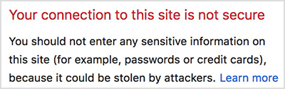 Non Secure Connection