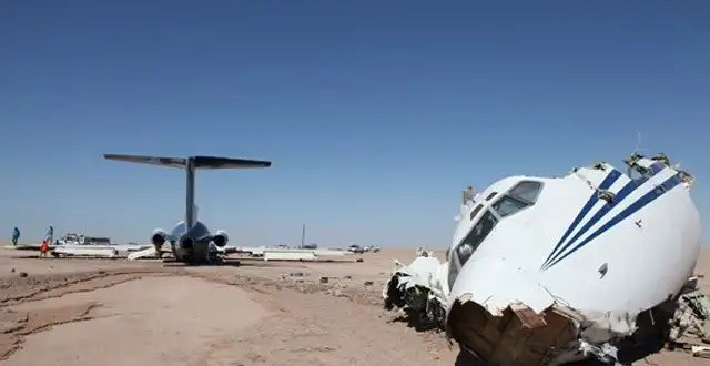 Video: un Boeing 727 se estrella en el desierto