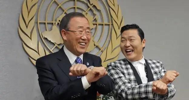 Video: El secretario de la ONU baila el Gangnam style junto a Psy