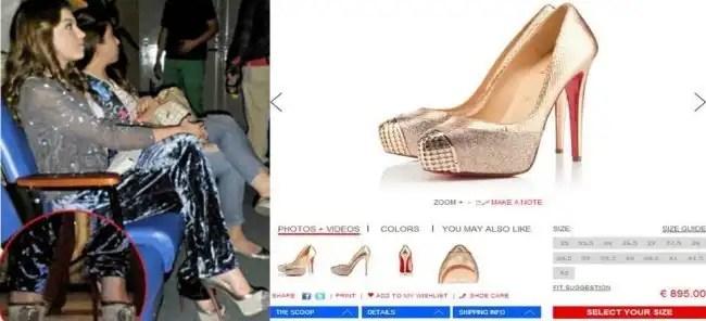 Los zapatos del escándalo de la hija de Gaviota