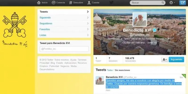 El primer tuit del Papa Benedicto XVI - Enterate qué escribió