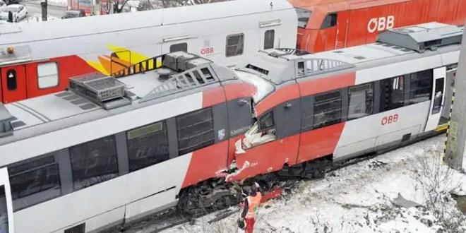 Choque frontal de trenes deja 41 heridos