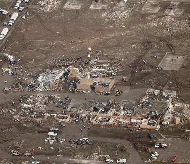 Fotos: Antes y después del tornado de Oklahoma