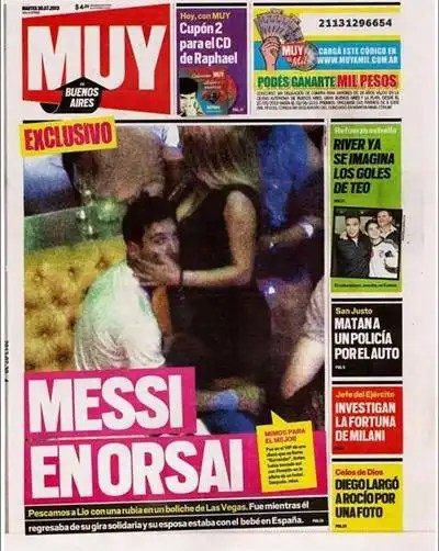 Foto escándalo: Lionel Messi con stripper en Las VEgas