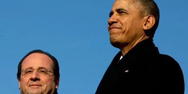 Barack y Michelle Obama reciben a Hollande en la Casa Blanca