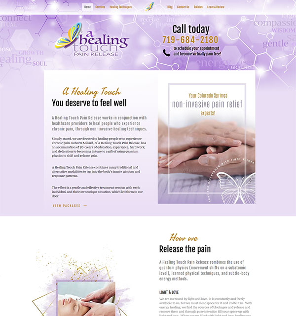 A Healing Touch Web Design