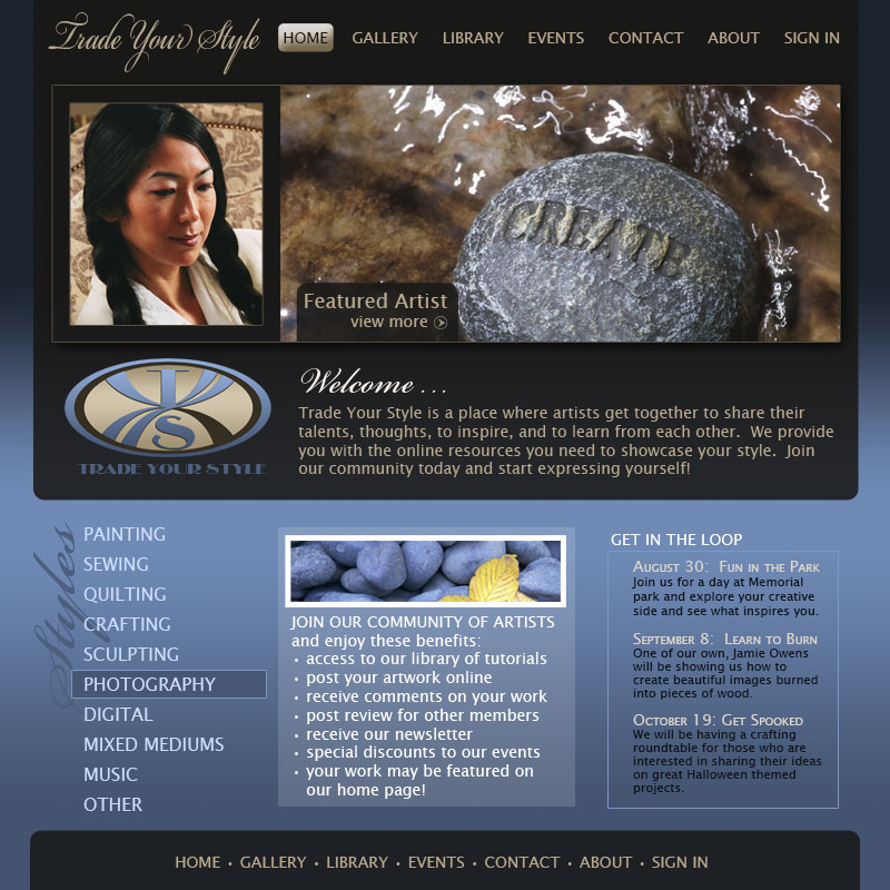 Trade Your Style Web Design