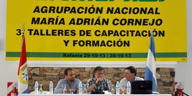 Videla participó del taller de capacitación organizado por ATILRA