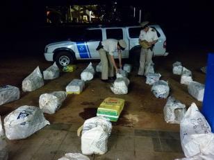 Secuestran 1300 kilos de marihuana en Misiones