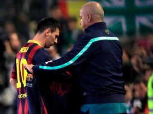 Lionel Messi vuelve a salir lesionado