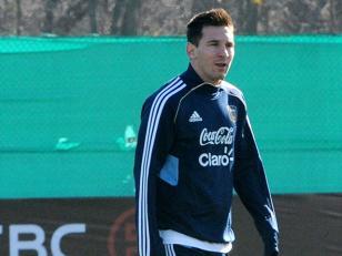 Messi se entrenó en Ezeiza con la mente puesta en el Mundial 2014