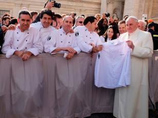 El Papa Francisco recibió a argentinos que competirán en el Mundial del Helado