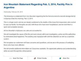 """La declaración oficial de """"Iron Mountain"""""""