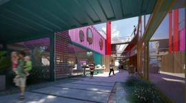 Un shopping construido con containers en Buenos Aires