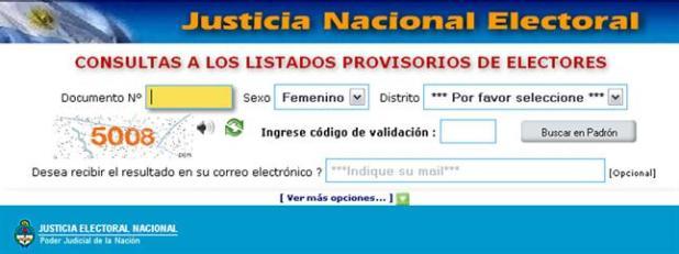 Donde voto? - Consultar el lugar de votacion para las PASO nacionales