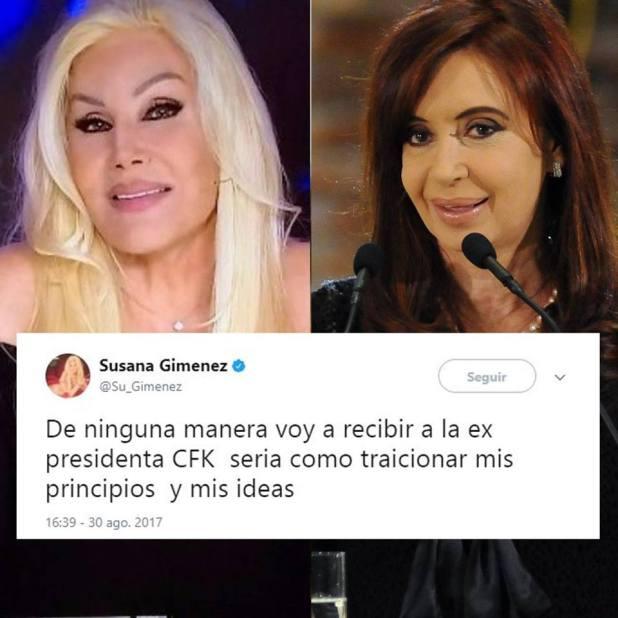 SUSANA GIMENEZ LE DIJO QUE NO A CRISTINA KIRCHNER