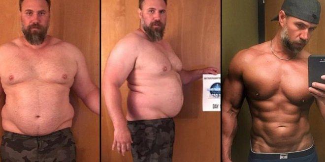 Padre muestra en las redes su físico perfecto después de haber perdido 92 kilos en 150 días