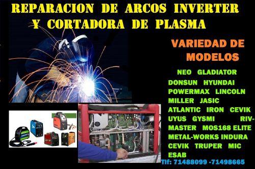 ARCOS Y CORTADORA DE PLASMA